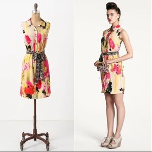 Anthropologie Tabitha Aubrieta Silk Shirt Dress